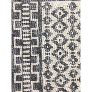 Shop Nuloom Handmade Flatweave Striped Diamond Border