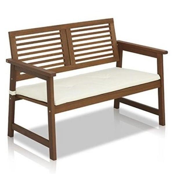 Shop Furinno Fg161167 Tioman Teak Hardwood Outdoor Bench With