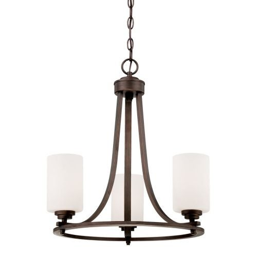 Millennium Lighting 7253 Bristo 3 Light 1 Tier Chandelier