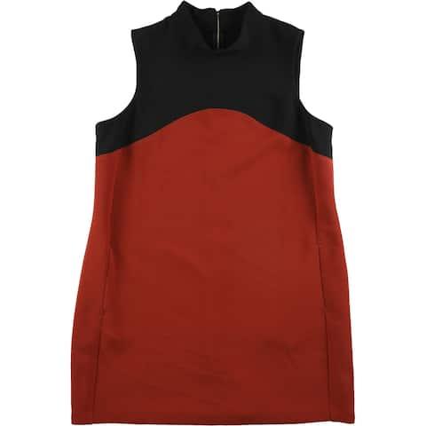 Alfani Womens Prima Shift Dress, Red, 8