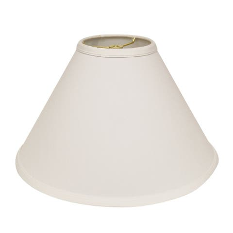 Cloth & Wire Slant Deep Cone Hardback Lampshade with Washer Fitter, White