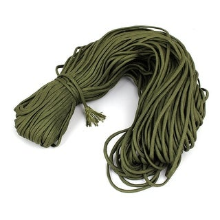 328Ft Outdoor Hiking Umbrella Tied Tents Survival Cord Safety Rope Army Green