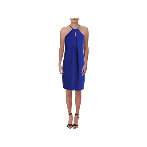 TRINA TURK Blue Short Sleeve Above The Knee Dress 6
