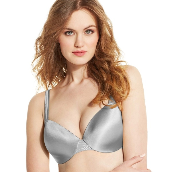 3f9a023ae39e9 Shop Bali Womens Crystal Grey Passion For Comfort Worry Free Underwire Bra  36D - Free Shipping On Orders Over  45 - Overstock.com - 20099404