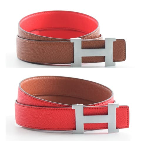 Unisex Reversible H Belt with Removable Buckle ( Available in 2 sizes)
