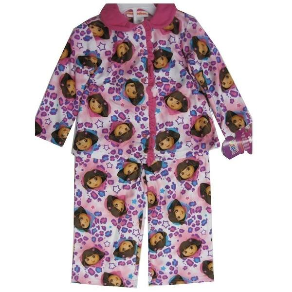 Girls Kids Nickelodeon Dora The Explora Long Sleeve Top Night Wear Pj Pyjamas