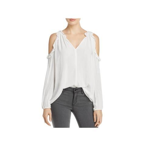 Velvet Womens Grechen Pullover Top Ruffled Cold Shoulder