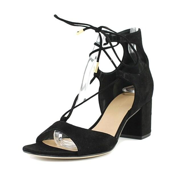 Diane Von Furstenberg Priore Women Open Toe Suede Black Sandals