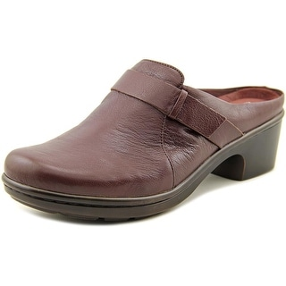 Easy Spirit Lorenda Women Round Toe Leather Purple Mules