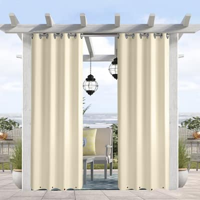 Pro Space Waterproof Outdoor Curtains, Top and Bottom, 1 Panel