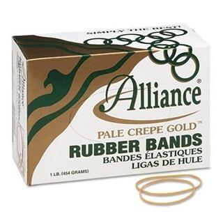 Alliance Pale Crepe Gold Rubber Bands- Size 19- 3-1/2 x 1/16- 1lb Box