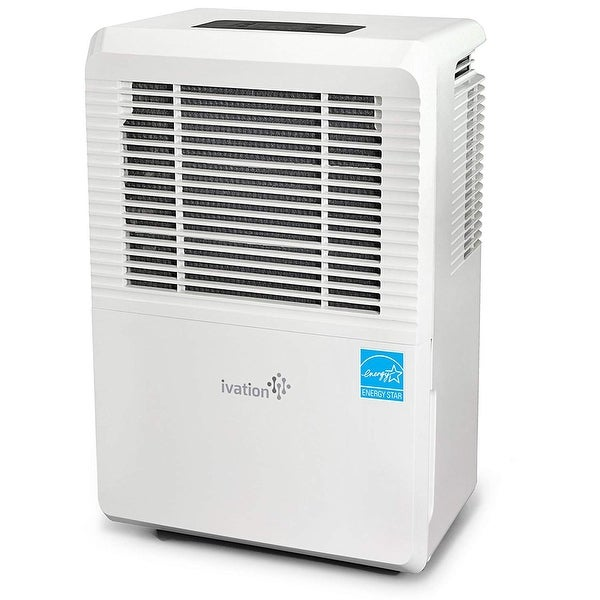 Ivation 50 Pint Energy Star Dehumidifier - Large-Capacity for Spaces Up to 3,000 Sq Ft - Includes Programmable Humidistat