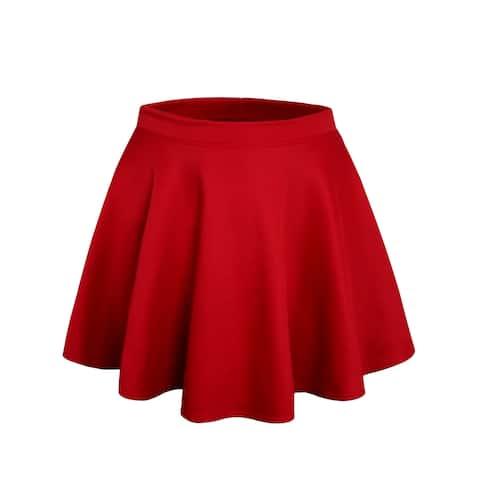 NE PEOPLE Stretchy Mini Flared Skater Skirt S-3XL [NEWSK06]