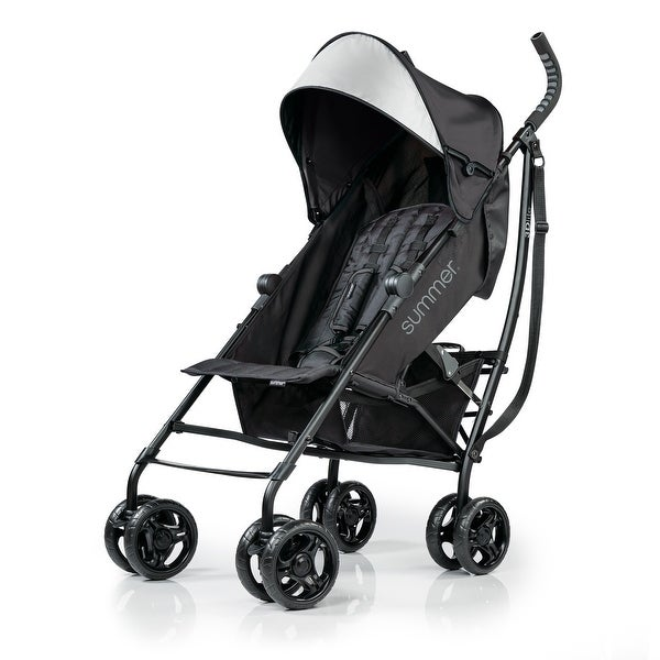 Summer 3Dlite Convenience Stroller, Jet Black - 40.5 x 10.2 x 8.5 inches. Opens flyout.