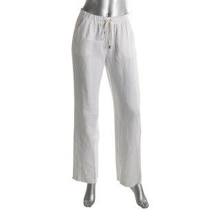 Vince Camuto Womens Casual Pants Linen Drawstring White S