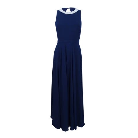 Fame and Partners Women's Pleated Maxi Dress