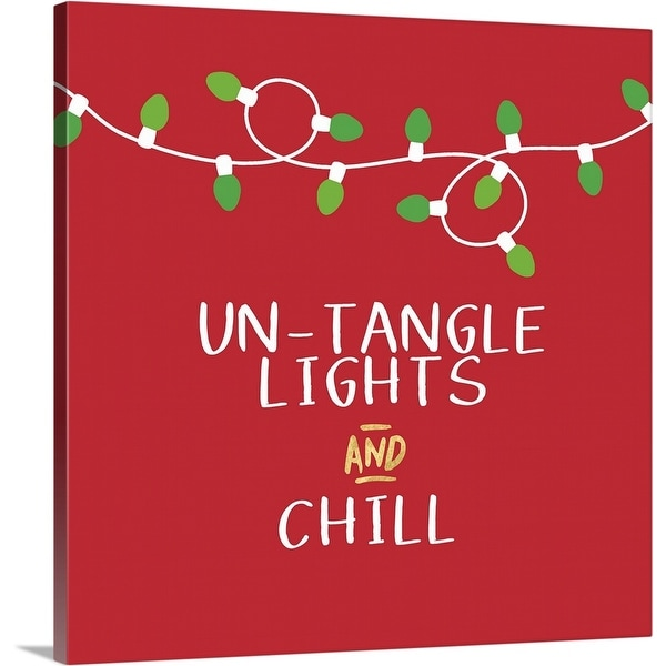 """""""Untangle Lights and Chill"""" Canvas Wall Art"""