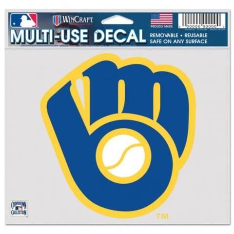 "Milwaukee Brewers Decal 5x6 Multi Use Color Retro Logo Design - 5"" x 6"""