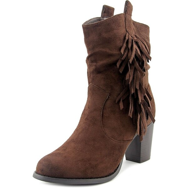 Wanted Memphis Women Round Toe Synthetic Mid Calf Boot