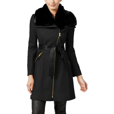 Via Spiga Womens Coat Wool Asymmetric
