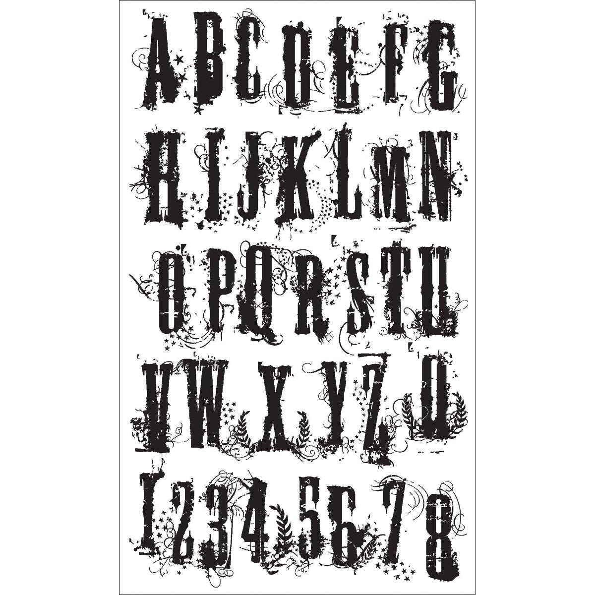 "Stampers Anonymous Tim Holtz Cling Stamps 7/""X8.5/""-Brushstrokes"