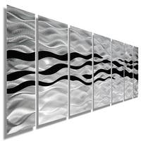 Statements2000 Black / Silver Modern Abstract Metal Wall Art Painting by Jon Allen - Wild Ways