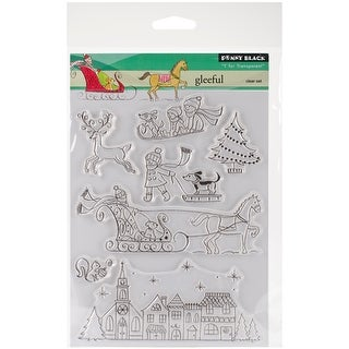 """Penny Black Clear Stamps 5""""X7""""-Gleeful"""
