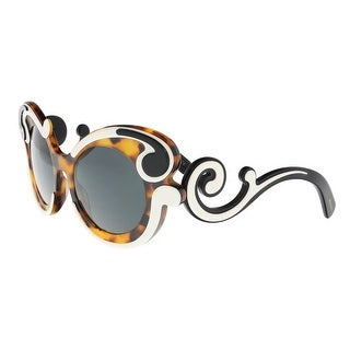 Prada PR 23NS VAL1A1 Ivory/Havana Round Baroque Sunglasses - 52-21-135