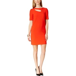 Tahari ASL Womens Shannon Party Dress Cut-Out Short Sleeves - 10