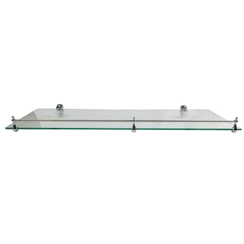 "Miseno MT-WHSSEC0816-RE 16"" Clear Glass Bathroom Shelf"