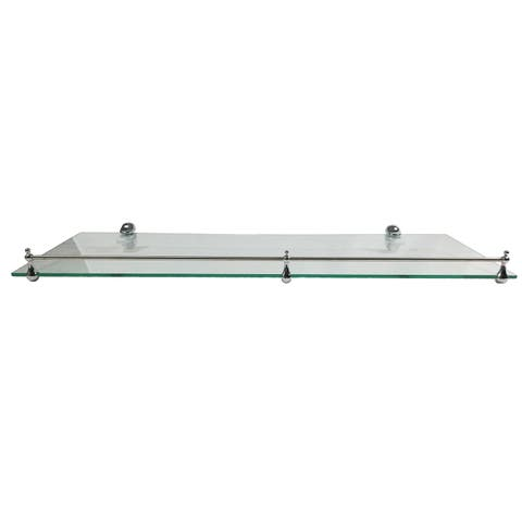 "Miseno MT-WHSSEC0824-RE 24"" Clear Glass Bathroom Shelf"
