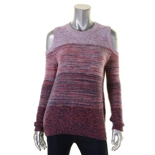 Rebecca Minkoff Womens Page Crewneck Sweater Ribbed Trim Space Dye (3 options available)