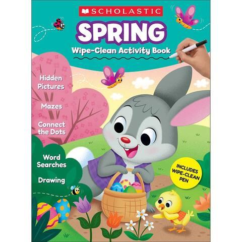 Scholastic spring wipe-clean activity book 833482
