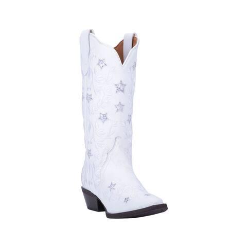 "Laredo Western Boots Womens Lucky Star Snip Toe 12"" Shaft"