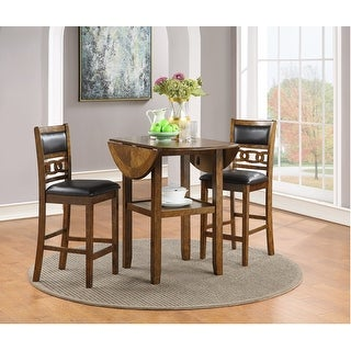 "Link to Gia 42"" Counter  Drop Leaf Table W/2 Chairs-brown Similar Items in Dining Room & Bar Furniture"
