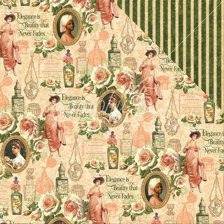 """Portrait Of A Lady Double-Sided Cardstock 12""""X12""""-Catherine"""