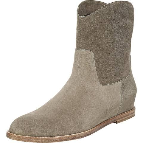 Vince Womens Sinclair Ankle Boots Suede Wedges - Flint Suede