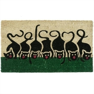 Rubber-Cal Purrrrr Cat Animal Welcome Door Mat - 30 x 18 x 0.63 in.