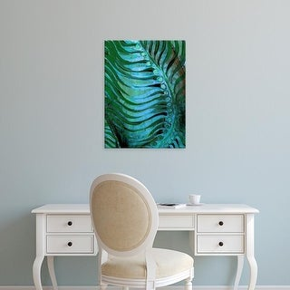 Easy Art Prints Danielle Harrington's 'Emerald Feathering II' Premium Canvas Art