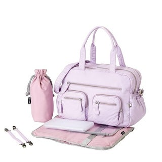 oioi Lilac Orchid Faux Lizard Carry-All Diaper Bag