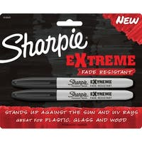Sharpie Extreme Permanent Marker, Fine Tip, Black, Pack of 2