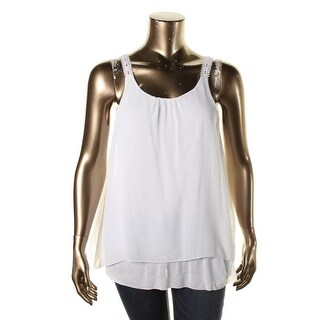 Kensie Womens Chiffon Layered Casual Top