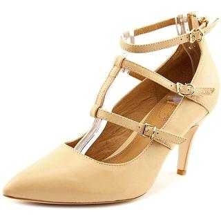 Corso Como Carter Women Pointed Toe Leather Nude Heels