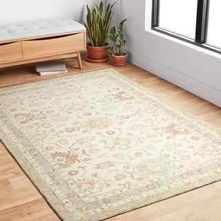 Alexander Home Annabelle Sunrise Hand-Hooked Traditional Wool Rug