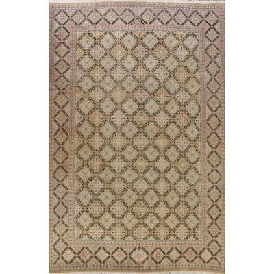 "Traditional Geometric Najafabad Persian Area Rug Wool Handmade - 9'11"" x 13'1"""