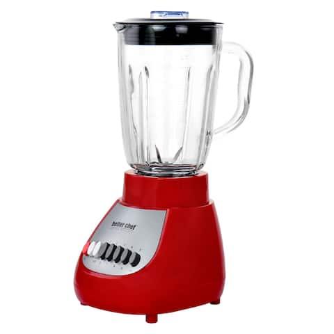 Better Chef 10 Speed 350 Watt Glass Jar Blender Red - 42 oz