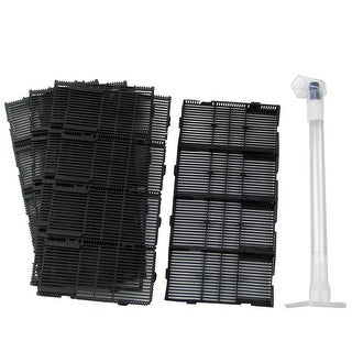 "Unique Bargains 22 in 1 Aquarium Black 5.5"" x 2.8"" x 0.5"" Undergravel Filter w Air Line Hose"