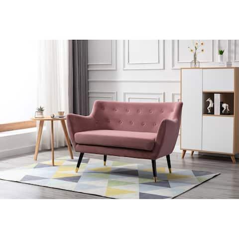 Porthos Home Dulce Small Sofa For Living Room, Velvet, Wooden Legs