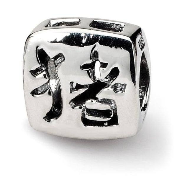 Sterling Silver Reflections Chinese Good Luck Bead (4mm Diameter Hole)