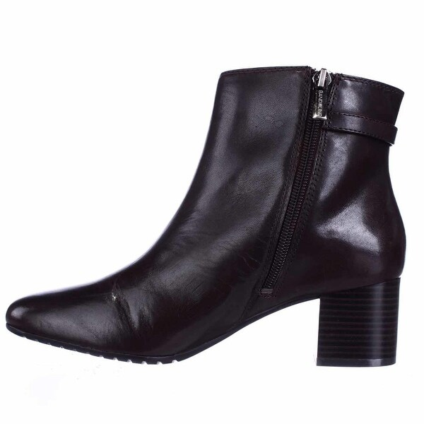 Bandolino Womens Lethia Leather Square Toe Ankle Fashion Boots